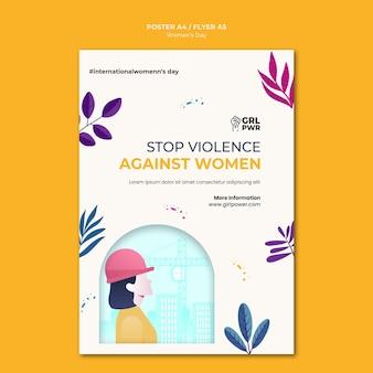 Modello di stampa della giornata internazionale della donna