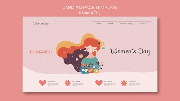 International women's day web template