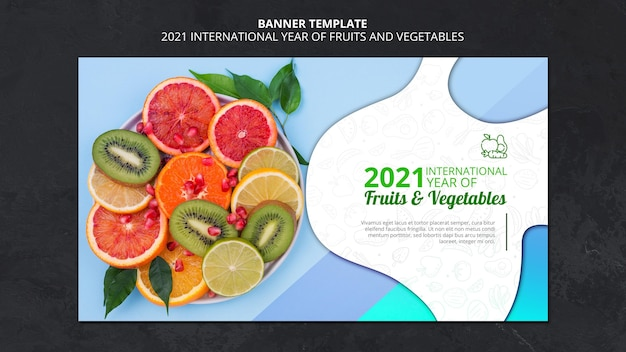 International year of fruits and vegetable banner
