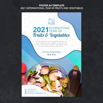 International year of fruits and vegetable poster