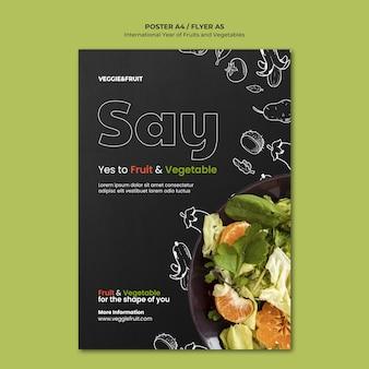 Manifesto dell'anno internazionale di frutta e verdura