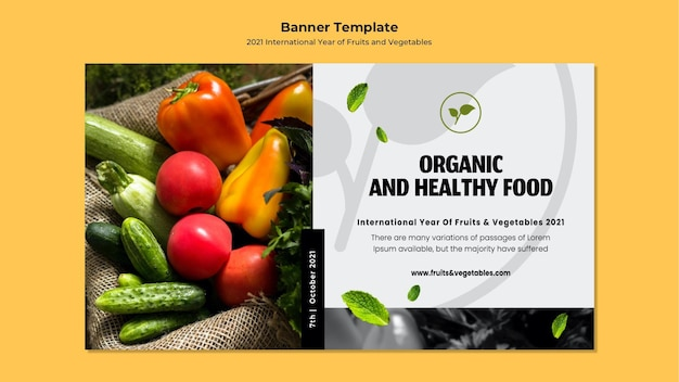 International year of fruits and vegetables banner template
