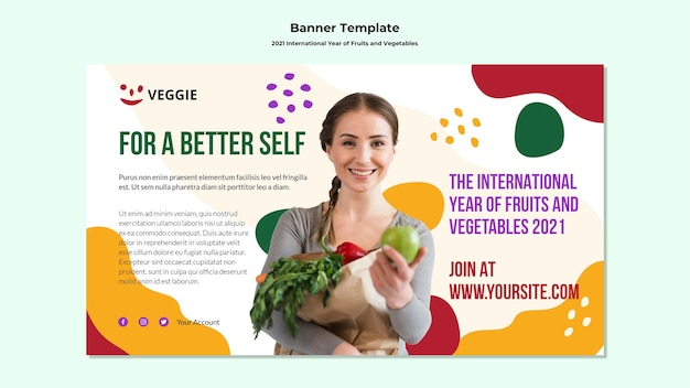 International year of fruits and vegetables banner