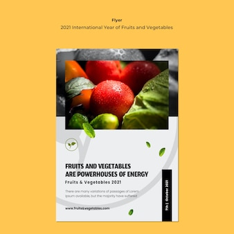 International year of fruits and vegetables flyer template
