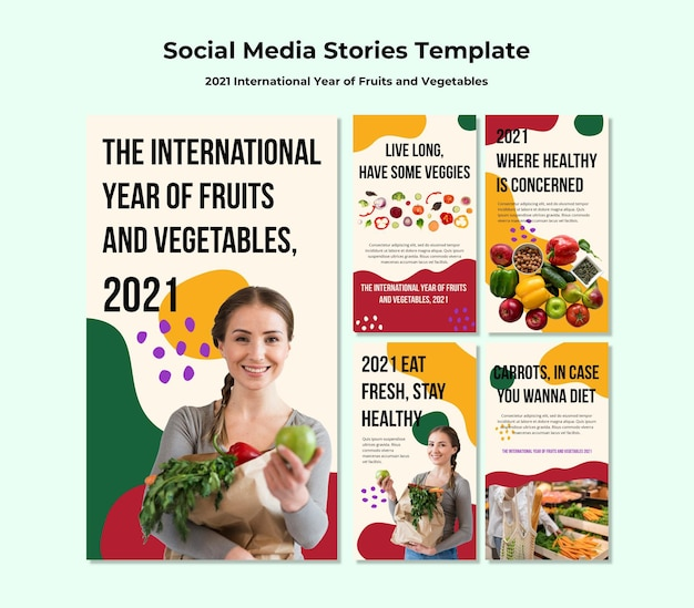 International year of fruits and vegetables instagram stories
