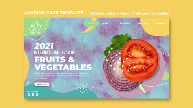 International year of fruits and vegetables web template