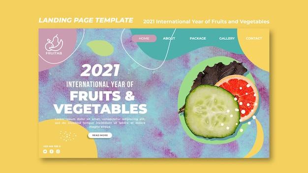 Modello web anno internazionale di frutta e verdura