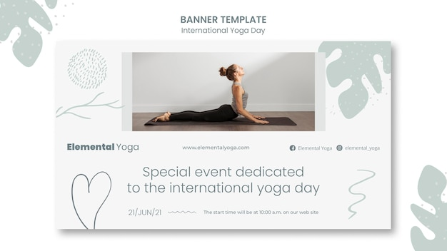 Международный день йоги баннер