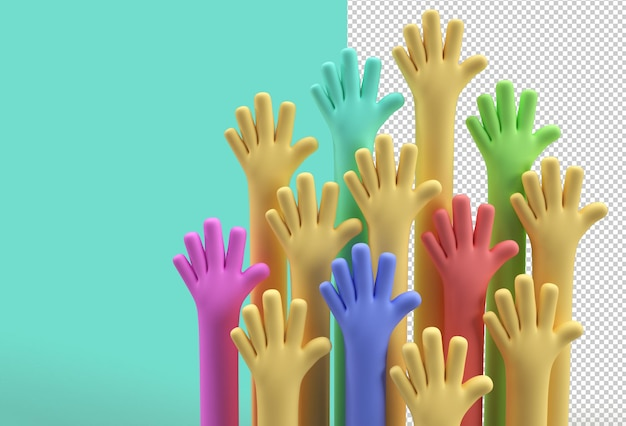 국제 청소년의 날 8월 12일 투명 psd 파일.