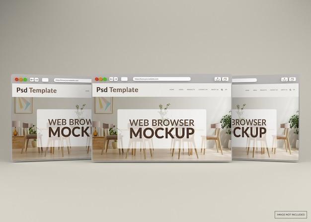 Internet browser web page mockup