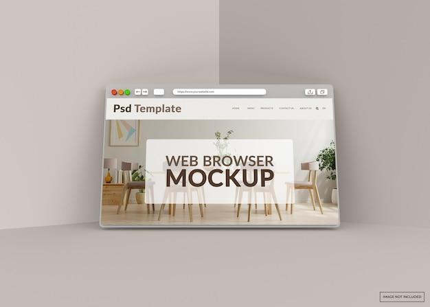 Макет веб-страницы в интернет-браузере