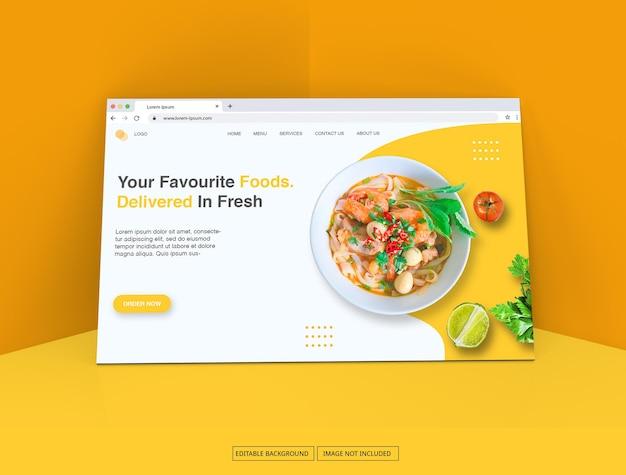 Окно интернет-браузера для макета целевой страницы