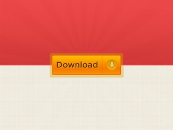 Internet download button in orange