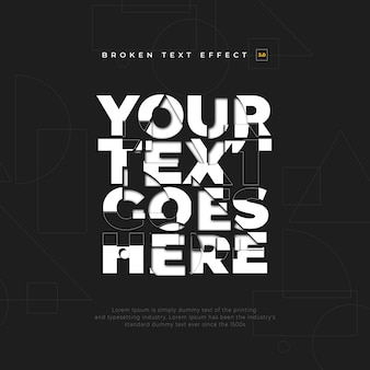 Intersect text effect