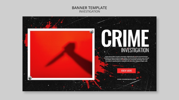 Investigation banner template