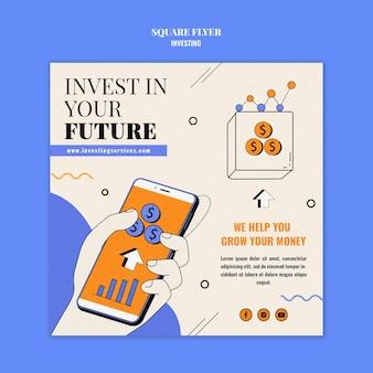 Modello di stampa di investimento illustrato