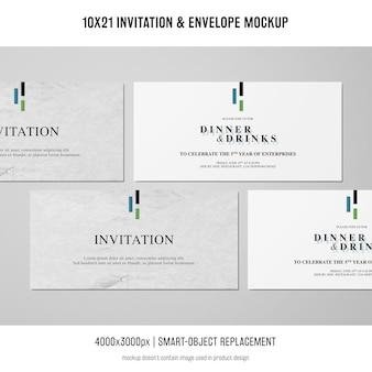 초대장 및 봉투 이랑 무료 PSD 파일