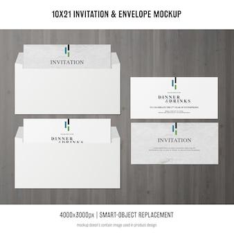 초대장 및 봉투 모형