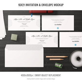 Макет приглашения и конверта