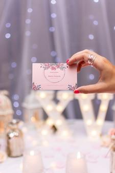 달콤한 열 다섯 초대 카드