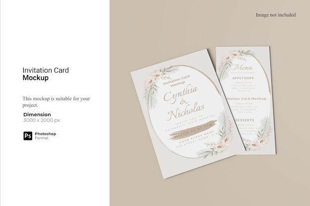 초대 카드 목업 디자인