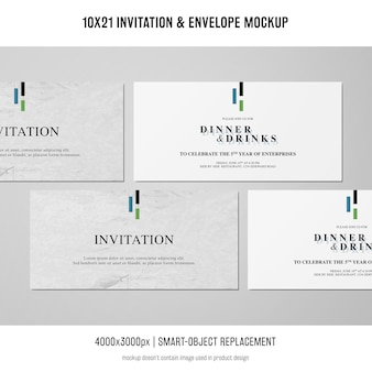 Invitation and envelope mockup