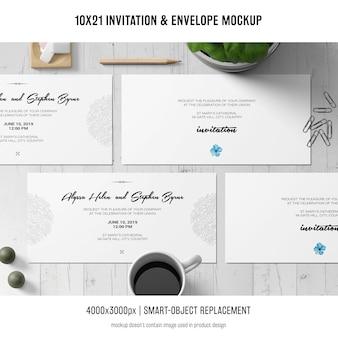 Invitation and envelope mockup