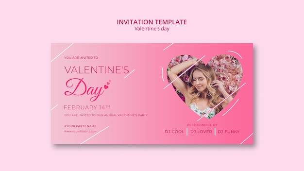 Invitation template for valentines day
