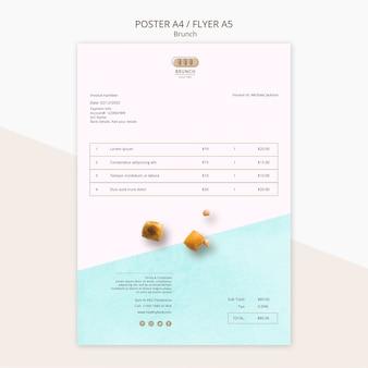 Шаблон счета-фактуры для бранча ресторана