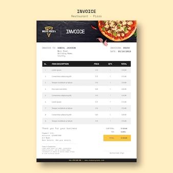Шаблон счета для пиццерии