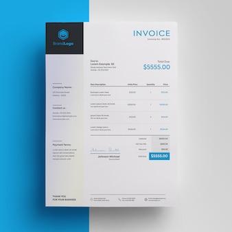 Invoice template premium psd