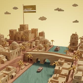 都市世界の日モデルのモックip