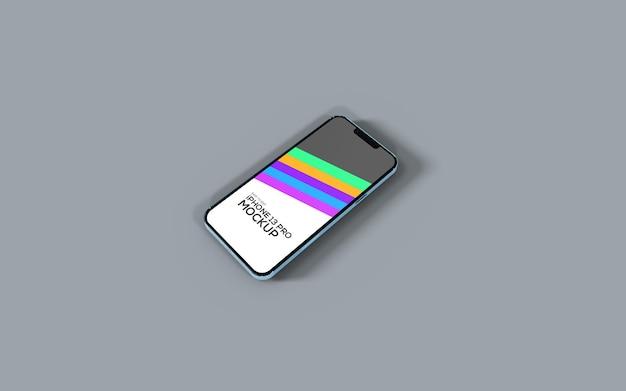 아이폰 13 프로 스마트폰 화면 목업
