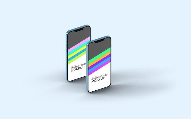Iphone 13 pro smartphone screen mockup