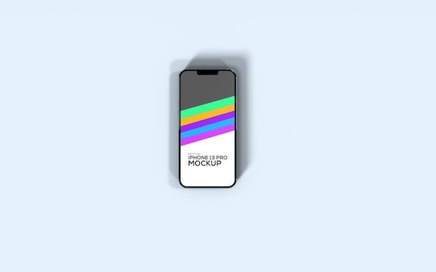 아이폰 13 프로 스마트폰 평면도 목업