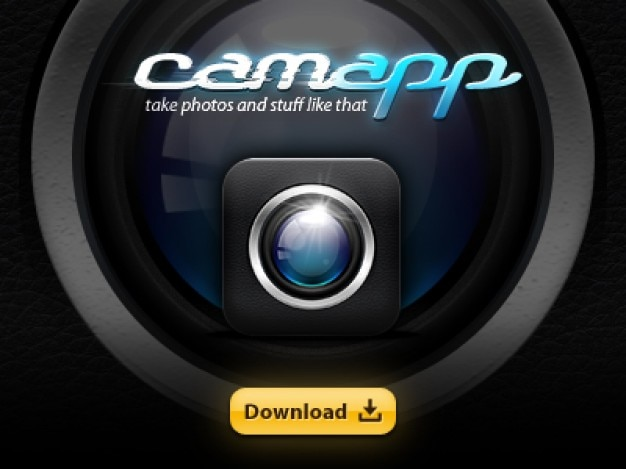 Iphone app cam icon psd