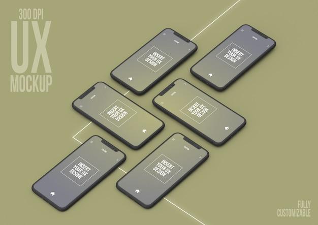 아이폰 컬렉션 모형 장면 템플릿