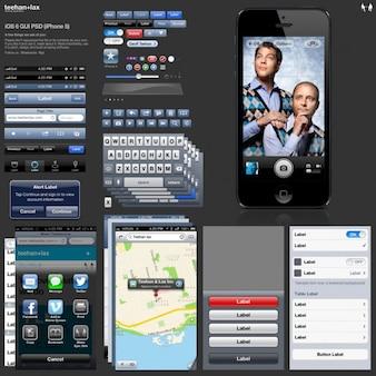 Iphone ios 6 gui in psd