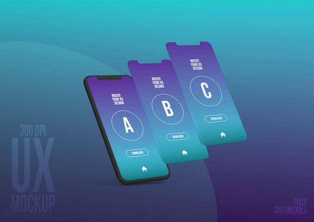 Шаблон макета iphone