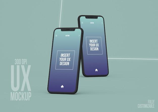 Шаблон макета экрана iphone