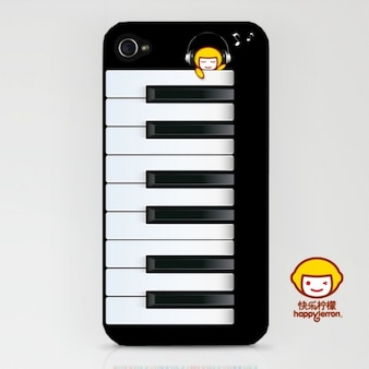 Iphone shell in the shape of piano