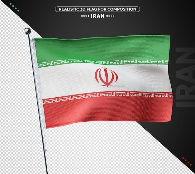 이란 구성에 대 한 3d 질감 된 플래그