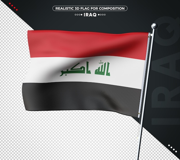 Iraq 3d textured flag for composition