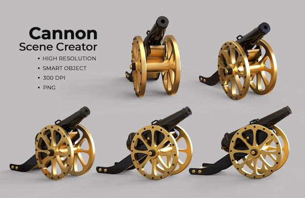 Islamic cannon scene creator