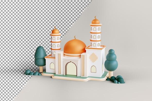 Исламское выставочное здание мечети с золотым куполом