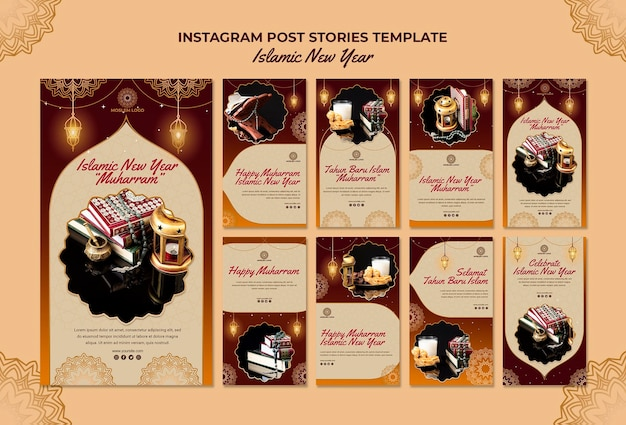 Islamic new year instagram stories template
