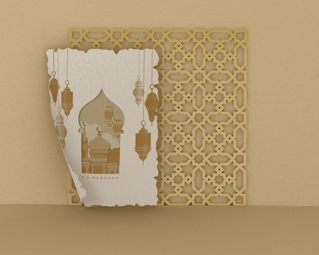 Islamic shapes concept mock-up