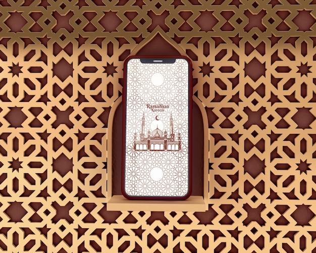 Islamic shapes concept mock-up