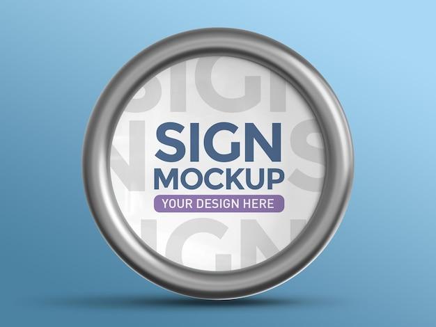 Изолированные 3d бизнес-макет знака