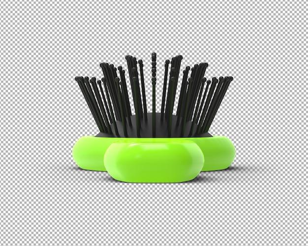 透明な3dヘアブラシレンダリングを分離